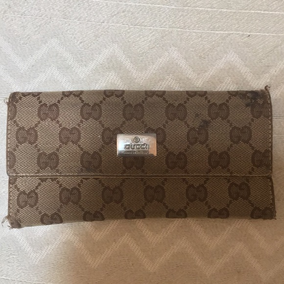 bb01edb5eb41 Gucci Bags | Authentic Vintage Trifold Wallet Checkbook | Poshmark
